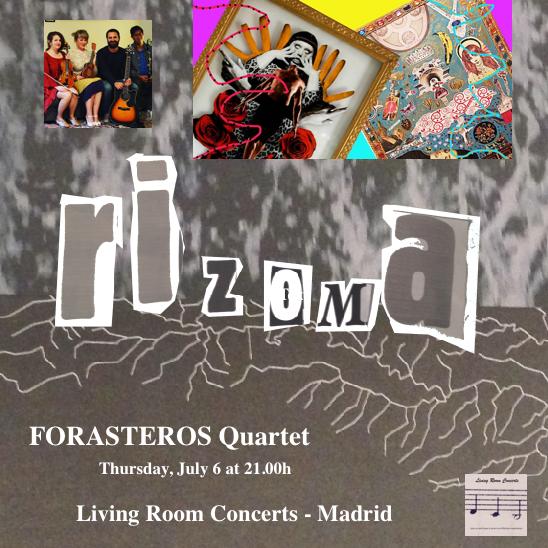 6 July - Pop-up Concert: Forasteros Quartet at Rizoma - Living Room Concerts