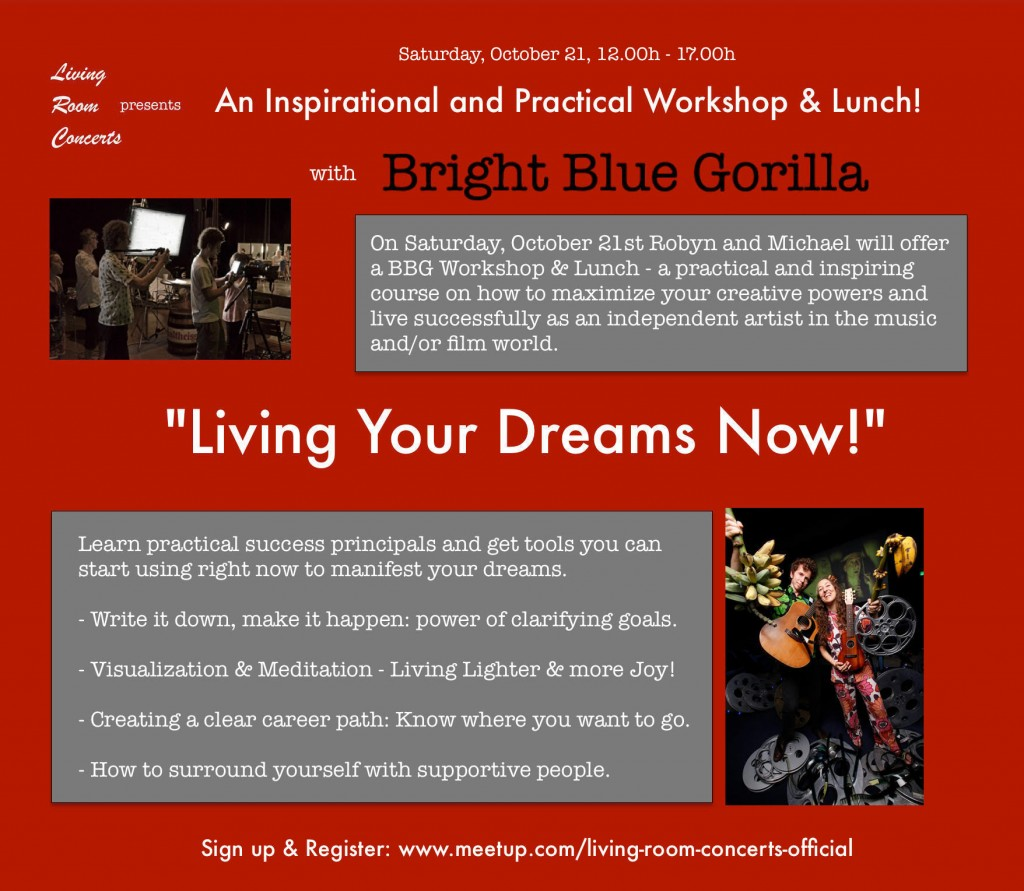 "21 Oct - LRC presents BBG Inspirational Workshop & Lunch on ""Living Your Dreams Now!"""