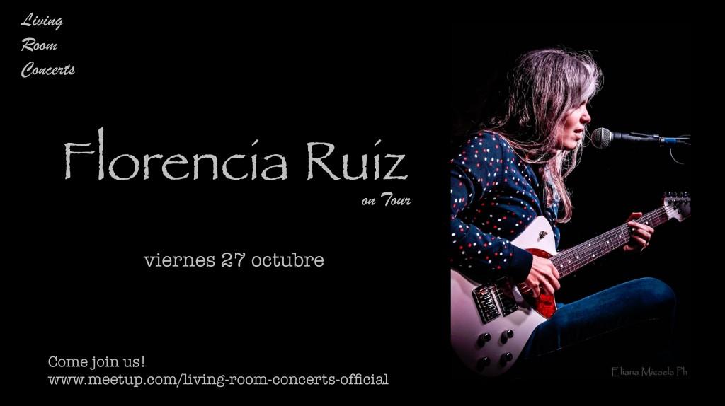27 October - Florencia Ruiz on Tour - Living Room Concerts