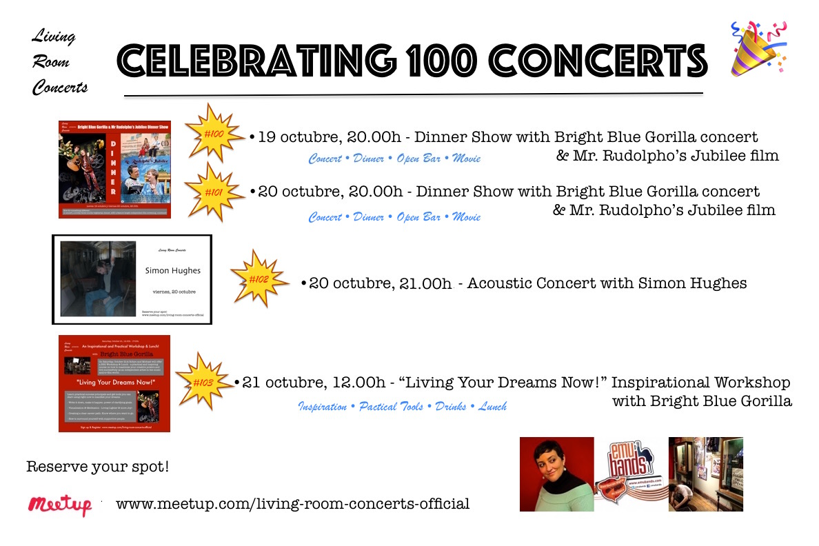 Celebrating 100 Concerts - Living Room Concerts