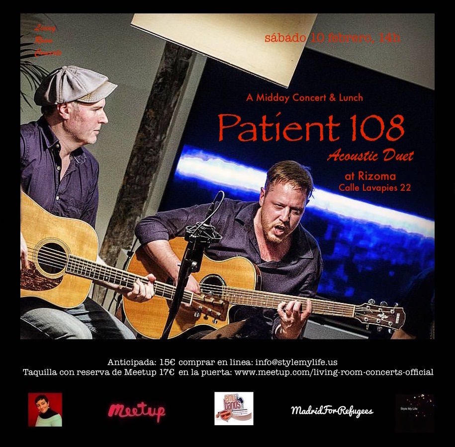 10 February - LRC presents A Midday Concert & Lunch with Patient 108 Acoustic Duet at Rizoma