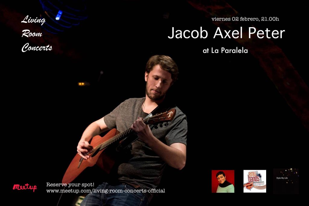2 February - LRC presents Jacob Axel Peter at La Paralela
