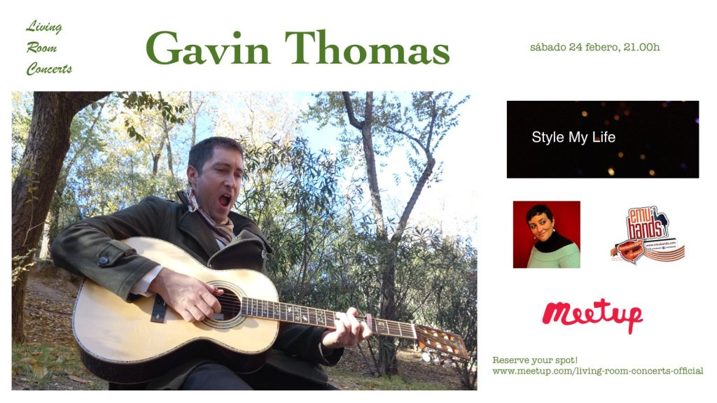 24 February - Gavin Thomas - Living Room Concerts